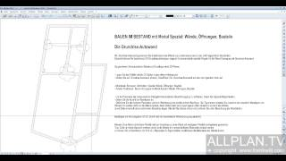 cad tutorials allplan. Black Bedroom Furniture Sets. Home Design Ideas