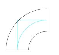 Stahl-Bogen 90°